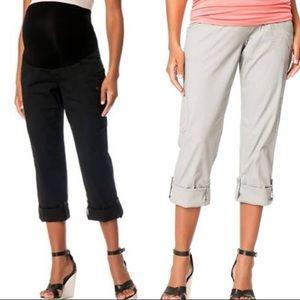 Black Cargo Maternity Pants